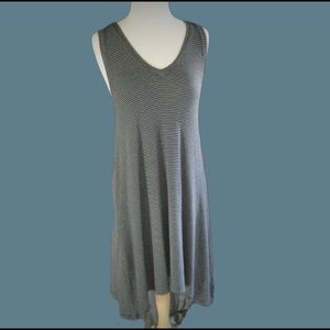 Gap Sleeveless V Neck High Low Tee Shirt Dress S